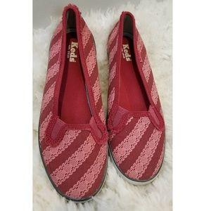 Keds Red/Patterned Slip-Ons
